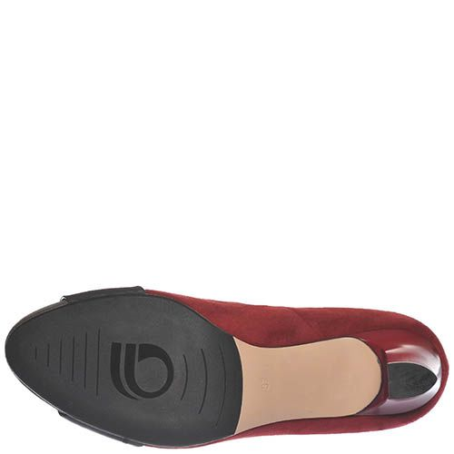 Туфли Giorgio Fabiani из замши серого и вишневого цвета, фото
