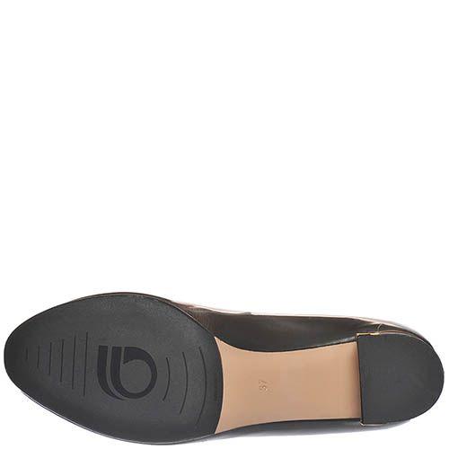 Туфли Giorgio Fabiani из полированной кожи графитного цвета с бантиком, фото