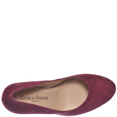 Женские туфли Giorgio Fabiani цвета марсала на высоком устойчивом каблуке, фото