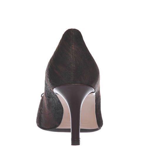 Кружевные туфли-лодочки Giorgio Fabiani темно-коричневого цвета, фото