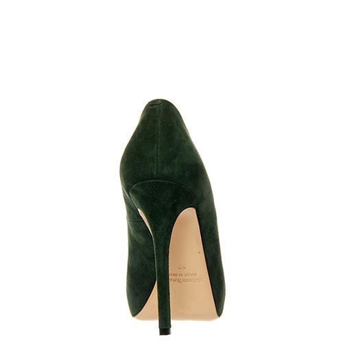 Замшевые туфли Giorgio Fabiani зеленого цвета, фото
