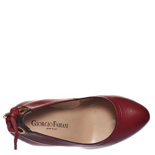 Туфли Giorgio Fabiani из натуральной кожи бордового цвета, фото