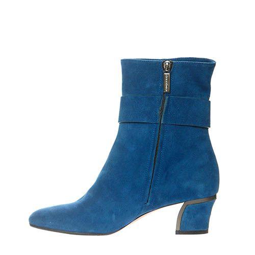 Замшевые ботинки Giorgio Fabiani синего цвета на молнии, фото