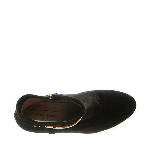 Замшевые ботинки Giorgio Fabiani черного цвета на молнии, фото