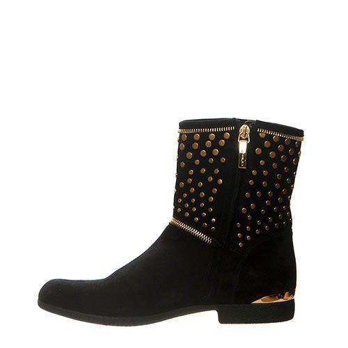 Замшевые ботинки Loriblu черного цвета на молнии, фото