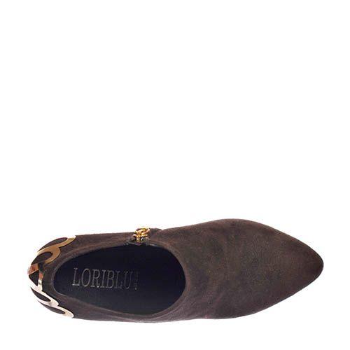 Замшевые ботильоны Loriblu коричневого цвета, фото