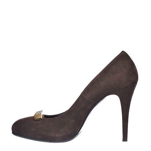 Туфли замшевые Loriblu коричневого цвета, фото