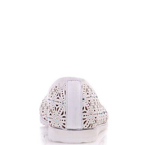 Туфли-лодочки Prego из кожи белого цвета, фото