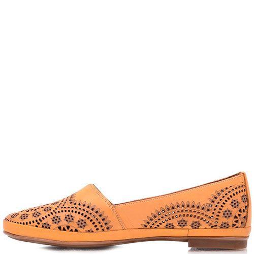 Туфли Prego из натуральной перфорированной кожи песочного цвета , фото