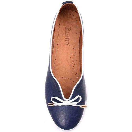 Туфли Prego из кожи синего цвета, фото