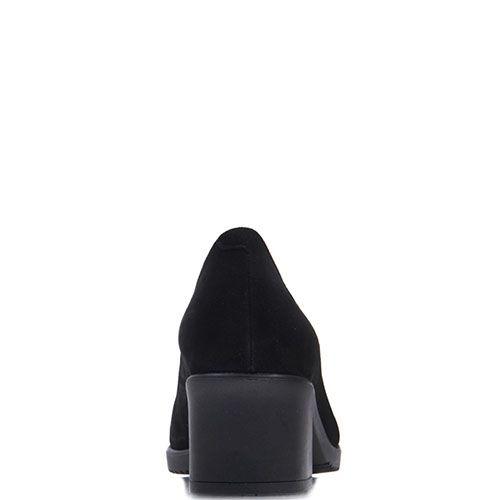 Замшевые лодочки Prego черного цвета на каблуке, фото