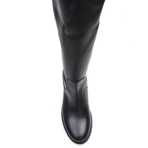 Сапоги Prego осенние высокие черного цвета с рельефной подошвой, фото