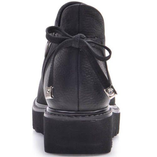 Ботинки Prego из черного нубука на завязках, фото