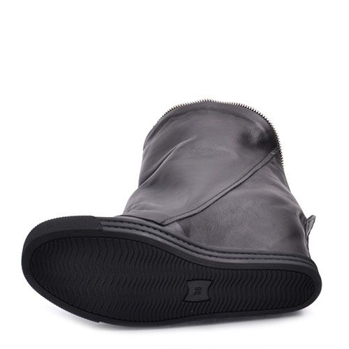 Ботинки Prego из гладкой кожи черного цвета на скрытой танкетке, фото