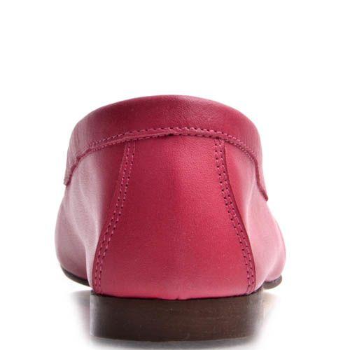 Мокасины Prego женские розового цвета из гладкой натуральной кожи, фото