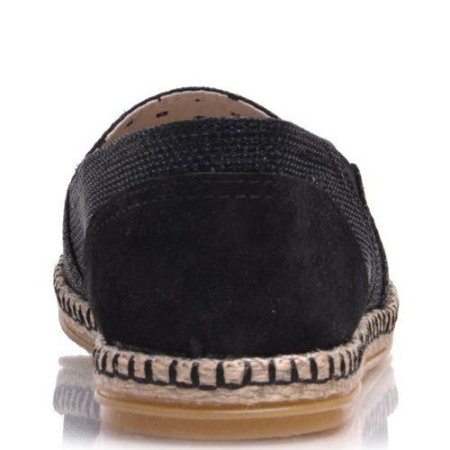 Эспадрильи Prego черного цвета тканевые, фото