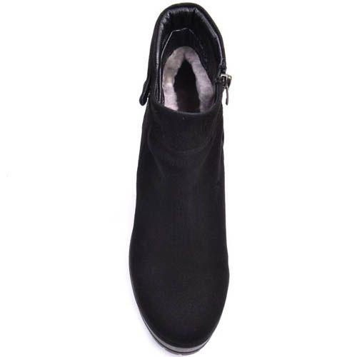 Ботинки Prego зимние замшевые с хлястиком на толстой подошве, фото