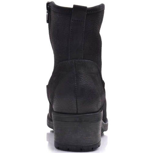 Ботинки Prego зимние черного цвета на меху с оригинальным съемным ремешком, фото