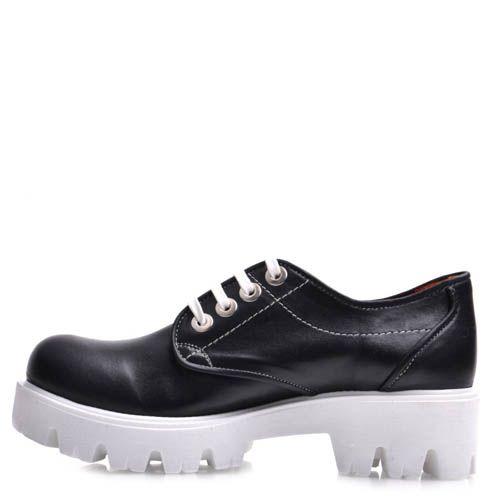 Ботинки Prego черного цвета на широкой подошве, фото