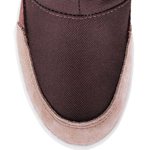 Сапоги-дутики Bressan коричневого цвета с вязаной вставкой на голенище, фото