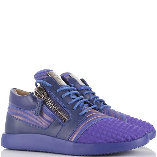 Синие кроссовки Giuseppe Zanotti с замочками, фото