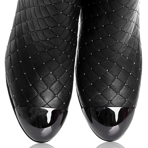 Стеганные ботильоны Le Silla с лаковым носочком, фото