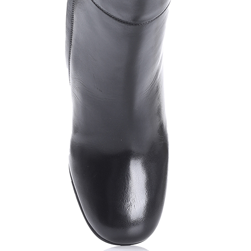 Сапоги Emporio Armani черного цвета на высоком каблуке, фото