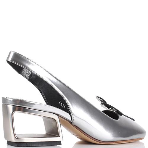 Босоножки с закрытым носочком Premiata серебристого цвета, фото