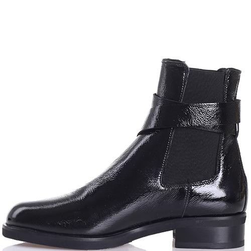 Черные ботинки John Galliano с декоративным ремешком, фото