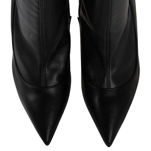 Ботфорты из мягкой черной кожи Elisabetta Franchi на шпильке, фото