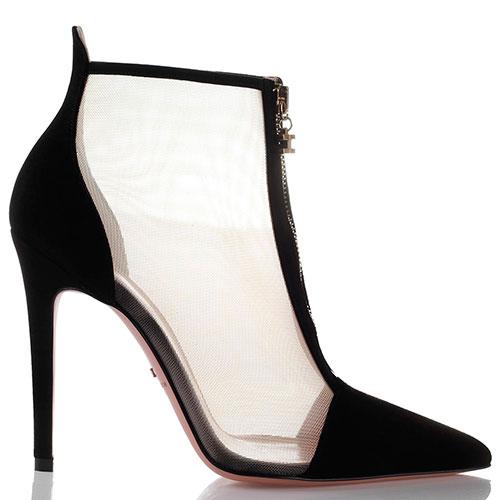 Черные ботильоны Elisabetta Franchi на высоком каблуке, фото