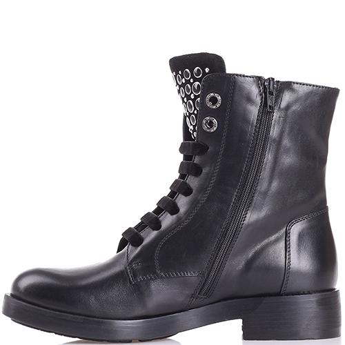 Ботинки Tosca Blu черного цвета с декором-заклепками, фото