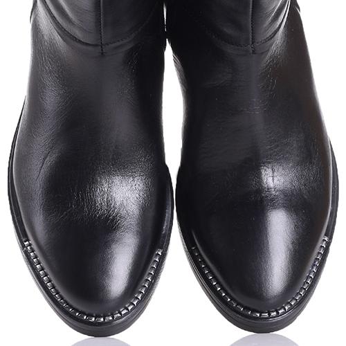 Черные сапоги Tosca Blu на низком каблуке, фото