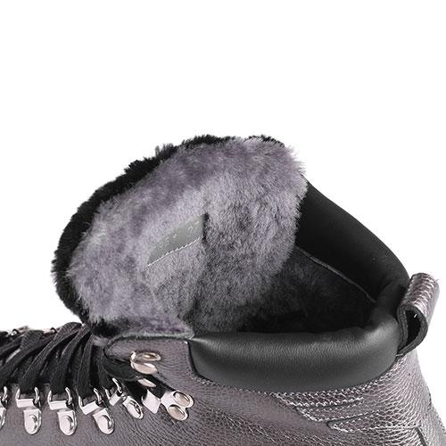 Ботинки из зернистой кожи John Richmond на рельефной подошве, фото