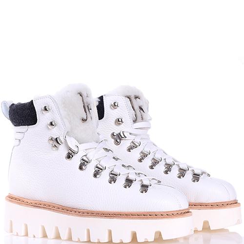 Ботинки John Richmond белого цвета на платформе, фото