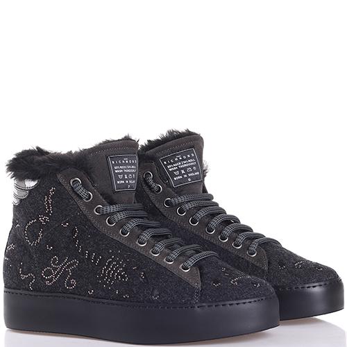 Зимние ботинки John Richmond со стразами, фото
