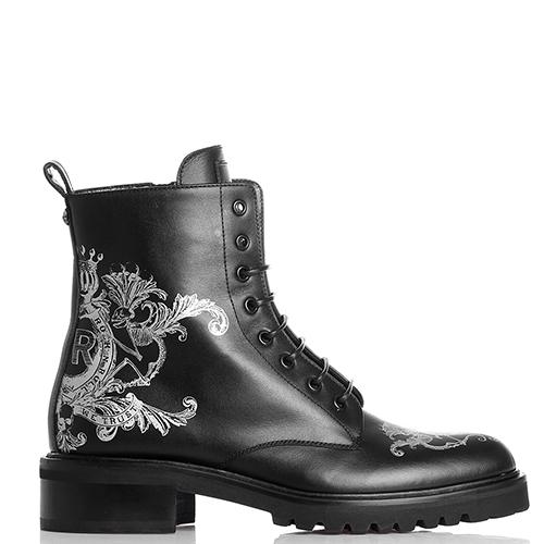 Ботинки John Richmond черного цвета с принтом, фото