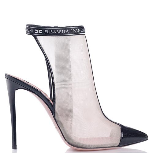 Босоножки Elisabetta Franchi с лаковым острым носком, фото