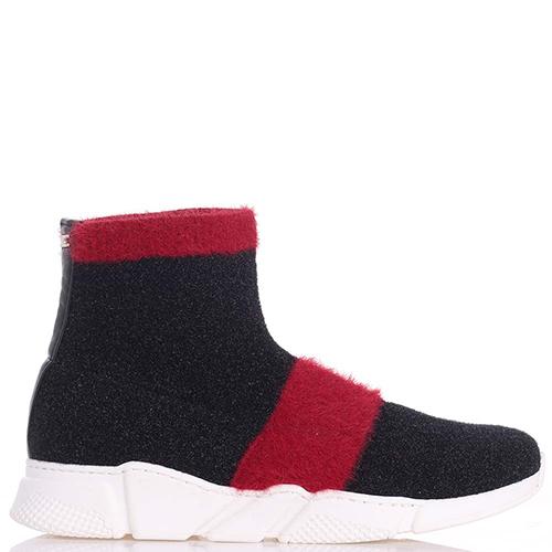 Черные ботинки Elisabetta Franchi на толстой подошве, фото