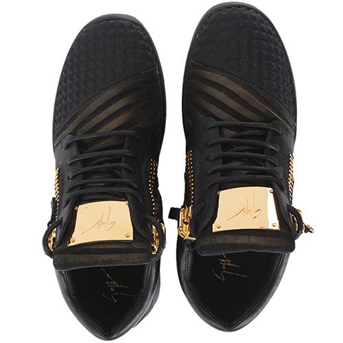 Черные кроссовки Giuseppe Zanotti с замочками, фото