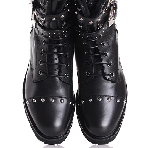 Ботинки Frankie Morello черного цвета с декором-заклепками, фото