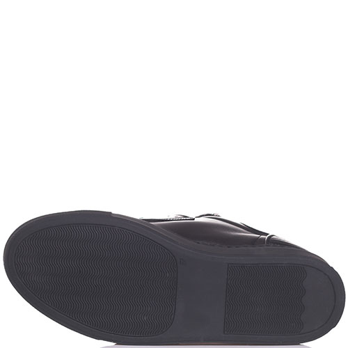 Кеды на липучке Frankie Morello черного цвета с металлическим декором, фото