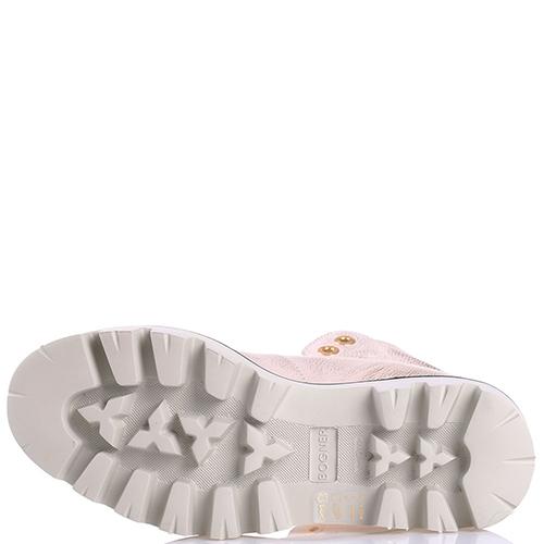 Розовые ботинки Bogner на меху, фото