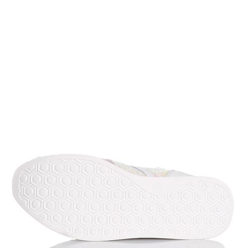 Белые кроссовки Tosca Blu с перламутровыми пайетками, фото