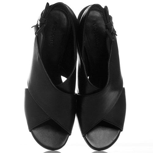 Босоножки черные Vic Matie на устойчивом каблуке, фото