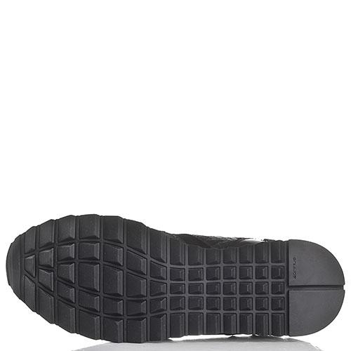 Черные кроссовки Iceberg из замши и кожи, фото