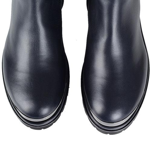 Зимние кожаные высокие ботинки Nando Muzi украшенные цепочками, фото