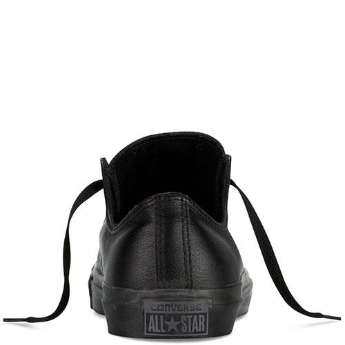 Кеды Converse из кожи черного цвета, фото