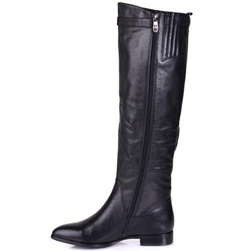Кожаные сапоги на низком ходу Grado с зауженным носком, фото