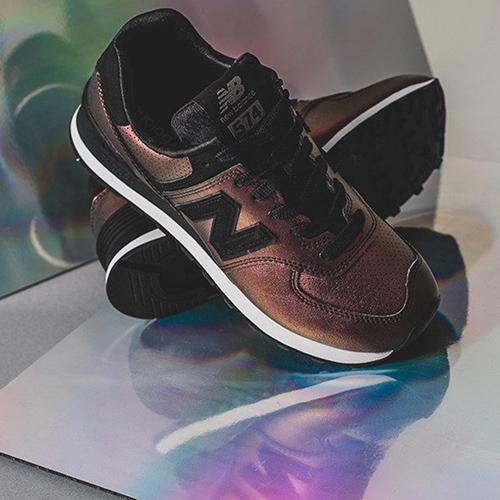Кроссовки New Balance 574 с черными вставками, фото